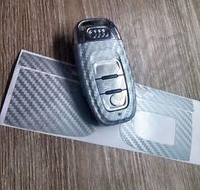 Gris Argenté Carbone clé Couverture Enveloppante Audi SMART à distance A1 A3