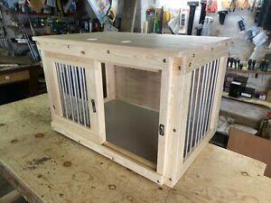 indoor dog kennel with sliding door