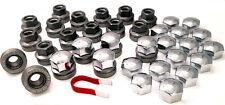 20 x alloy wheel nuts bolts M14x2, 21mm Hex Flat Seat + Chrome caps Ford Transit