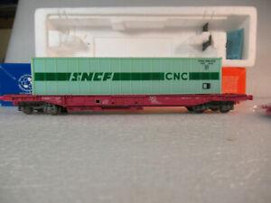 HO ROCO Wagon poche cnc SNCF + container CNC