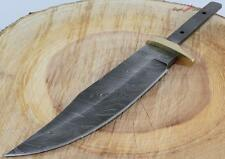"11"" Damascus Clip Point Bowie Blank Custom Knife Making Skinning Hunting Blade"