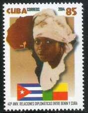 1Cuba Sc# 5541  DIPLOMATIC RELATIONSHIP WITH BENIN  2014  MNH mint