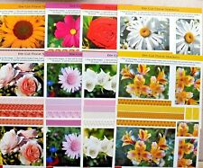 8 x A4 Sheets Doolicraft Die-Cut Floral Stackers NEW