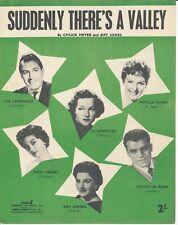 De repente hay un Valle-Petula Clark - 1955 Partituras