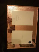 Next Rose Glitter Picture Photo Twin Frame Current season size 6x6 inch RRP £14