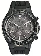 Versace Men's 26CCS7D455 S009 DV One Automatic Chrono Tachymeter Black Watch