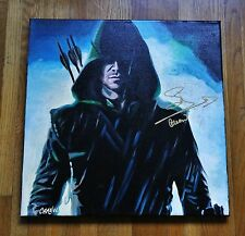 Stephen Amell 1 OF A KIND signed original 18x18 Oil Painting W/ COA ARROW
