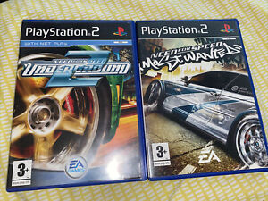 Need for Speed: Underground 2 & Most Wanted Sony PS2 Games With Manuals