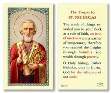 25 Laminated Holy Cards Saint Nicholas