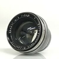 Carl Zeiss Jena SONNAR f2/50mm lens, collapsible, CONTAX mount [JC]