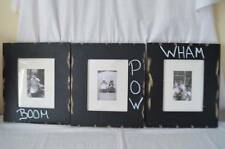 NWOTP Pottery Barn Kids BOOM PAM WHAM Gallery Hanging Frames Superhero Set of 3