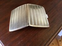 Solid Silver Antique Cigarette Case 1927