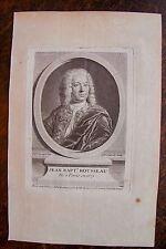 JEAN BAPT. ROUSSEAU . PORTRAIT, GRAVURE ORIGINALE , 1760
