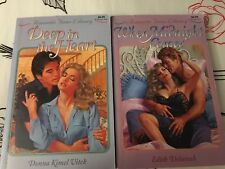 Romantic Times Library Romance Books Novels, Lot Of 2, Softcover