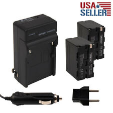 2pcs NP-FW50 Batteries + Charger for SONY NEX-3D NEX-5N NEX-C3 Alpha A3000 FW50