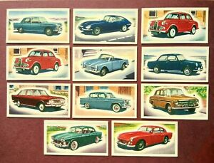 Priory Tea Cards, I Spy Cars, 11 In Total, 1964
