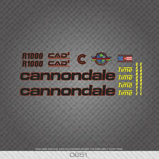 0651 Cannondale R1000 Bicycle Stickers - Decals - Transfers - Black With Red Key