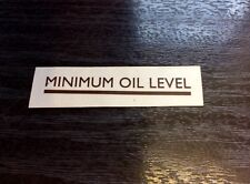 TRIUMPH TIGER CUB MINIMUM OIL LEVEL STICKER