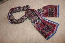 Light Weight Scarf Fashion casual floral Oscar De La Renta silk blue red white
