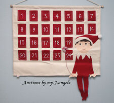 NEW Pottery Barn Kids Christmas ELF ON THE SHELF Advent Calendar NO NAME/NO MONO