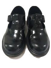 Doc Martens Kids Size 1 T Bar Shoes Black Patent Leather