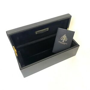 Armand De Brignac Gold Ace Of Spades Black Champagne Box Case and Booklet