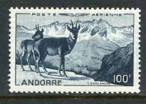 ANDORRA 1950 AIRMAIL CHAMOIS 100F MNH Stamp