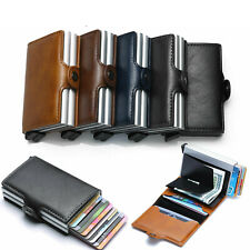 Wallet for Men Slim Front Pocket Aluminium RFID Blocking Dual Credit Card Holder