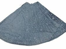 Slate Gray Party Long Skirt Ethnic Bollywood Style Embroidered Summer Dress 31""