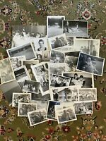 #3 Lot of 35 Vintage Black and White Photographs Snapshots