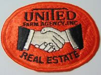 """3"""" Old Vintage 1970s UNITED FARM AGENCY REAL ESTATE FARM HAT ADVERTISING PATCH B"""