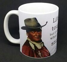 John Wayne funny mug country & western cowboy famous quote coffee birthday gift.