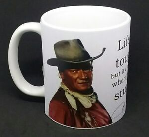 JOHN WAYNE TRIBUTE COFFEE MUG NOVELTY COWBOY CHRISTMAS GIFT BIRTHDAY PRESENT CUP