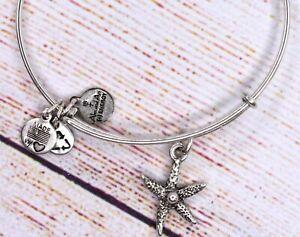 Alex and Ani Starfish Charm Bangle Silver Bracelet
