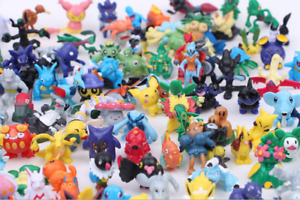 24pcs Pocket Monsters Random Pokemon Action Figures Pikachu Toys Cake Toppers