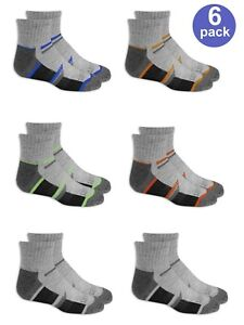 "Fruit of the Loom® Boy's Everyday Active Ankle Socks 6 Pack "" ARCH SUPPORT"""