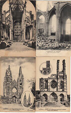 Lot 4 cartes postales anciennes GUERRE 14-18 WW1 SOISSONS 17