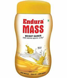 Endura Mass Weight Gainer Mass Gainer Post Workout (Banana, 500 g)
