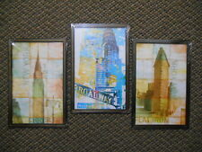 3 Wall Art Pictures NEW YORK Broadway Central Park Museum Flat Iron 23rd 42nd 5t