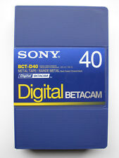 SONY BCT-D40 (small) DIGITAL BETACAM Profi Video Kassette NEU (world*) 000-334°