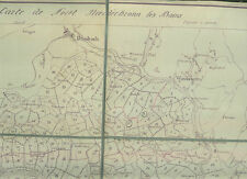 Alte Landkarte Carte de la Foret Niederbronn les Bains 1: 25.000 auf Leinen