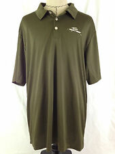 TEAM REALTREE Mens Polo Shirt XL Size Green 100% Polyester Outdoors Hunting