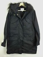 [ COUNTRY ROAD ] Womens Black Parka Jacket w/ Faux Fur  | Size S or AU 10