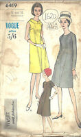 "1960s Vintage VOGUE Sewing Pattern B36"" DRESS (1620)"