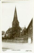 REAL PHOTOGRAPHIC POSTCARD OF PARBOLD CHURCH, (NEAR WIGAN), LANCASHIRE LILYWHITE