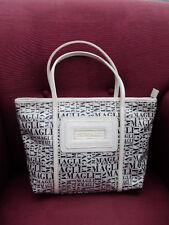 BRUNO MAGLI Handtasche Damen bag Sac purse schwarz/weiß Kunststoff mit Henkelngu