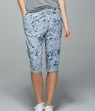 LULULEMON Retreat Yogi crop Star Crushed Silver Fox mesh sides luxtreme size 8