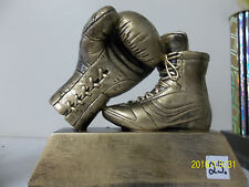 "Boxing award or trophy, comes with engraving, boot & glove, about 5"" high x 6W"