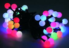 LED Lichterkette mit Kugeln 50 LEDs  Farbwechsel Girlande Partylichterkette bunt