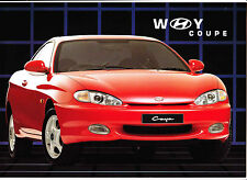 1997 HYUNDAI COUPE Australian Brochure with Specification and Accessories Sheets